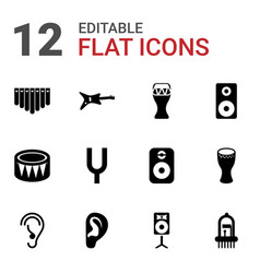 acoustic icons vector image