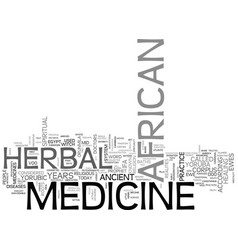 African herbal medicine text word cloud concept vector