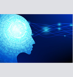 ai artificial intelligence future technology blue vector image