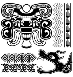 Ancient american patterns vector