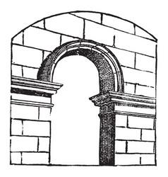 Arch walkways vintage engraving vector