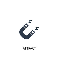 Attract icon simple element attract vector