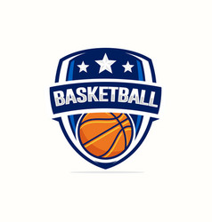 basketball logo template vector image