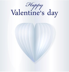 Blue paper valentines heart vector