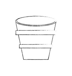 Bucket wooden water image sketch vector