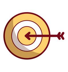 Business target arrow strategy symbol vector