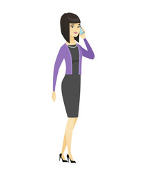 business woman talking on a mobile phone vector image