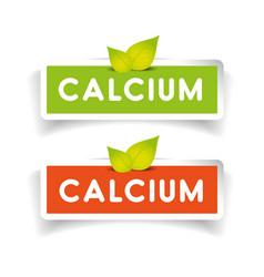 Calcium label set vector