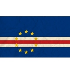 Cape Verde paper flag vector