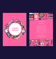 card flyer brochure template for beauty vector image