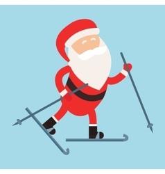 Cartoon Santa winter sport vector