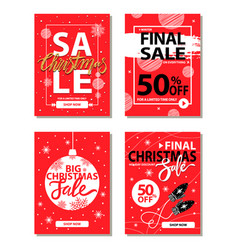 christmas holiday discount vector image