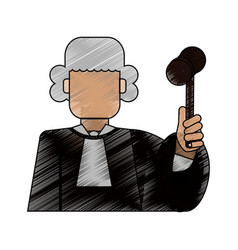 color blurred stripe of faceless man judge with a vector image