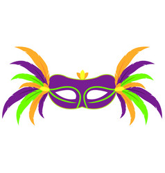 Colorful carnival mask vector