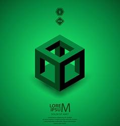 cube skeleton vector image