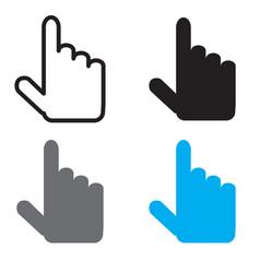 Cursor icon flat design style cursor sign vector