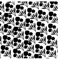 Cute flower garden decorative pattern vector