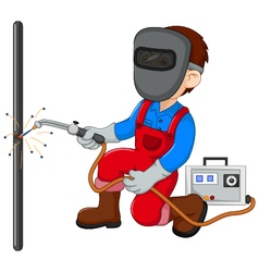 cute Welder cartoon vector image
