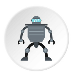 Cyborg robot icon circle vector