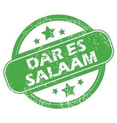 Dar Es Salaam green stamp vector