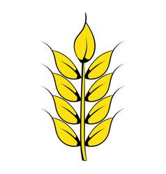 ear of barley icon cartoon vector image