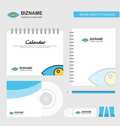 eye logo calendar template cd cover diary and usb vector image