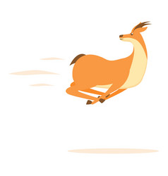 Fast gazelle icon cartoon style vector
