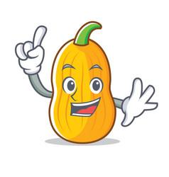 Finger butternut squash mascot cartoon vector