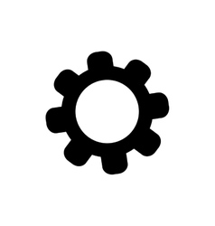 gear piece machinery vector image
