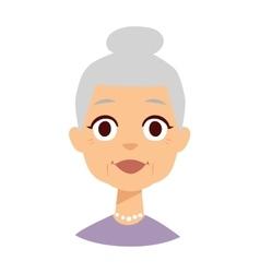 Granny face vector