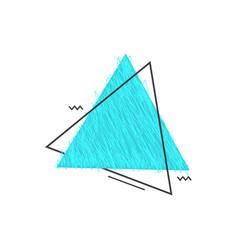 Grunge doodle sketch 90s colored frame vector