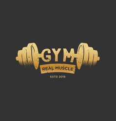 gym fitness vintage logo design inspiration in vector image