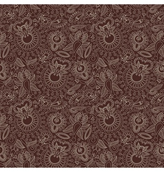 hand draw ornate seamless flower paisley design ba vector image