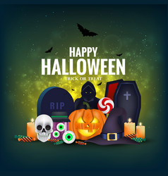Happy halloween banner 5 vector