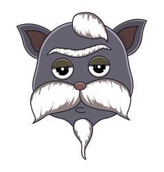 Head of cat in cartoon style vector