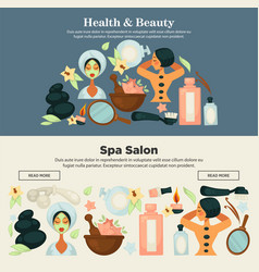 Health and beauty prosedures at spa salon promo vector