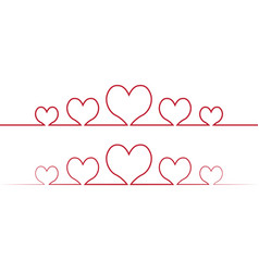 heart one line drawing love concept one vector image
