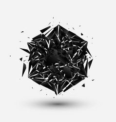 Hexagon logo abstract explosion background vector