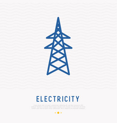 High voltage electric line tower support vector