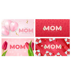 I love you mom happy mothers day background vector