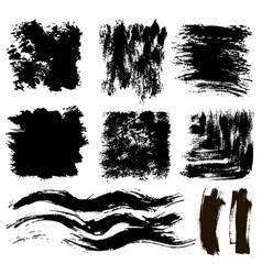 ink grunge banner spots set vector image