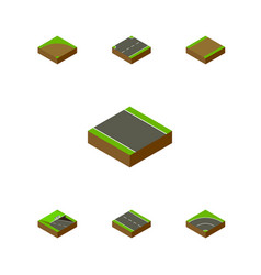 Isometric way set of upwards without strip vector