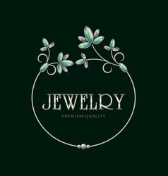 jewelry frame logo vector image