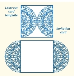 Lazercut wedding invitation template vector