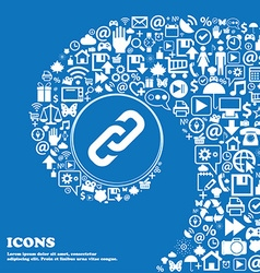 Link icon sign Nice set of beautiful icons twisted vector