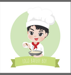 logo bakery boy vector image