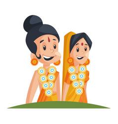 Lord rama and goddess sita vector