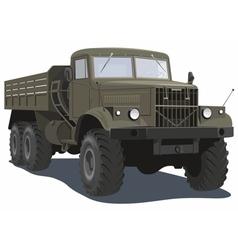 Military heavy truck vector