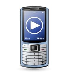 Modern cell phone vector