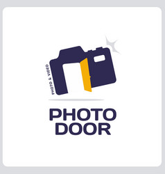 modern professional sign logo phoro door vector image